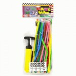 Clowns balloon twisting supplies - 50 pack with pump