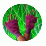 Fluffy wrist cuffs. One size fits all. Purple