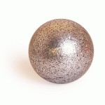 MB stage contact juggling glitter ball - 80mm silver