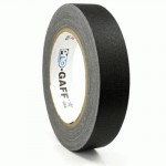 23m meter roll of 24mm hula hoop Pro Gaff tape - Black