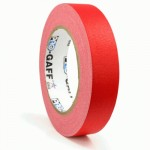 23m meter roll of 24mm hula hoop Pro Gaff tape - Red