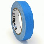 23m meter roll of 24mm hula hoop Fluorescent Gaff tape - Blue