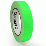 23m meter roll of 24mm hula hoop Fluorescent Gaff tape - Green