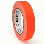 23m meter roll of 24mm hula hoop Fluorescent Gaff tape - Orange