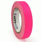 23m meter roll of 24mm hula hoop Fluorescent Gaff tape - Pink