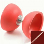 Juggle Dream - Rubber Top Diabolo - red - with sticks