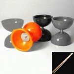 Juggle Dream Storm Diabolo - Orange - with sticks