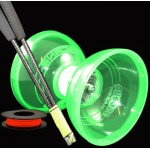 Jumbo Hurricane Triple Bearing Diabolo, Supergrind Carbon Handsticks and 25m String