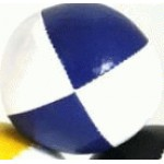 Juggling Ball - Single basic thud 110g white and blue