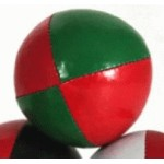 Juggling Ball - Single basic thud 110g red green