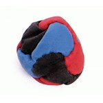 6 Panel sand foot bag hack sack - black blue red