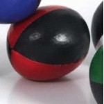 Juggling Ball - Single basic thud 110g black and red