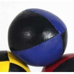 Juggling Ball - Single basic thud 110g black and blue