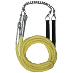 Jumbo 3 person fire skipping jump rope 3.6m