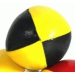 Juggling Ball - Single basic thud 110g yellow and black
