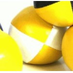 Juggling Ball - Single basic thud 110g yellow and white