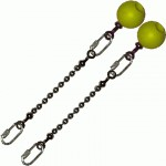 Poi Chain Ball 8mm 10cm with Yellow Handle 19cm