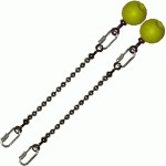 Poi Chain Ball 8mm 15cm with Yellow Handle 24cm