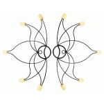 Pair of fire fans - lotus 50mm wicks for flame dancing